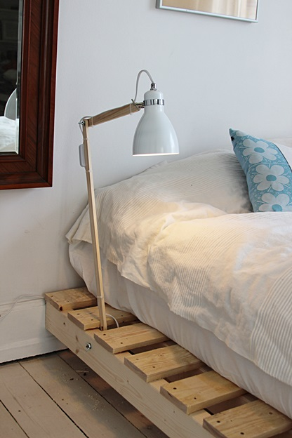 Pallet Woodworking 2 Bed Lamp For Pallet Bed By Mafe